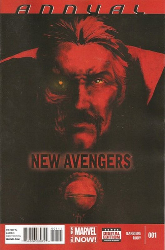 Cover of New Avengers (Vol 3) Annual #1. One of 250,000 Vintage American Comics on sale from Krypton!