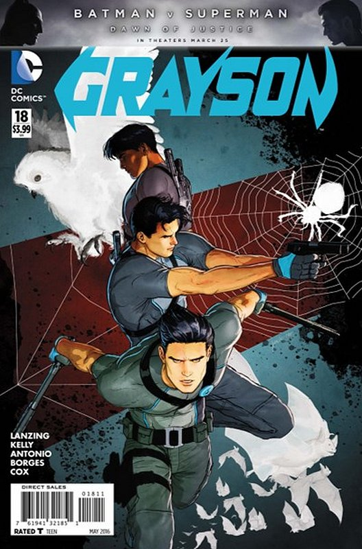 Cover of Grayson (Vol 1) #18. One of 250,000 Vintage American Comics on sale from Krypton!