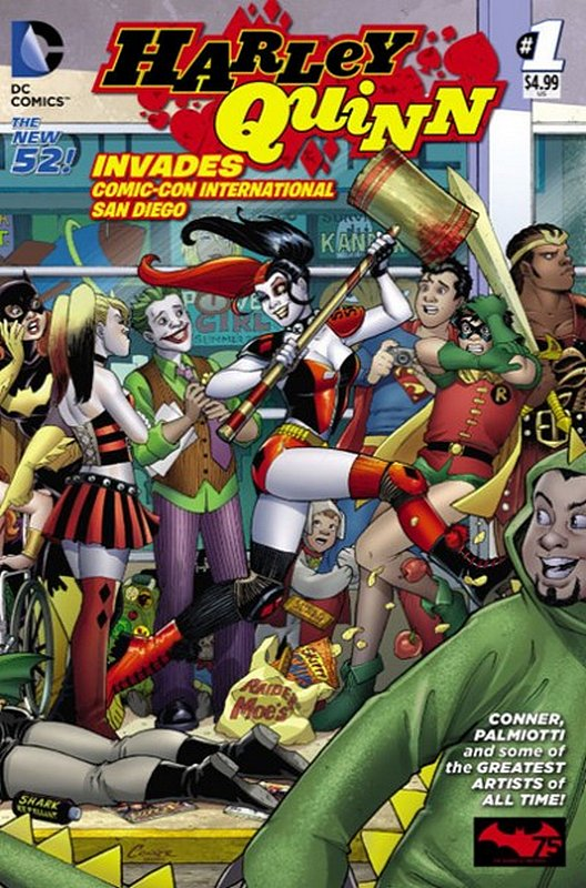 Cover of Harley Quinn Invades ComicCon San Diego (One Shot) #1. One of 250,000 Vintage American Comics on sale from Krypton!
