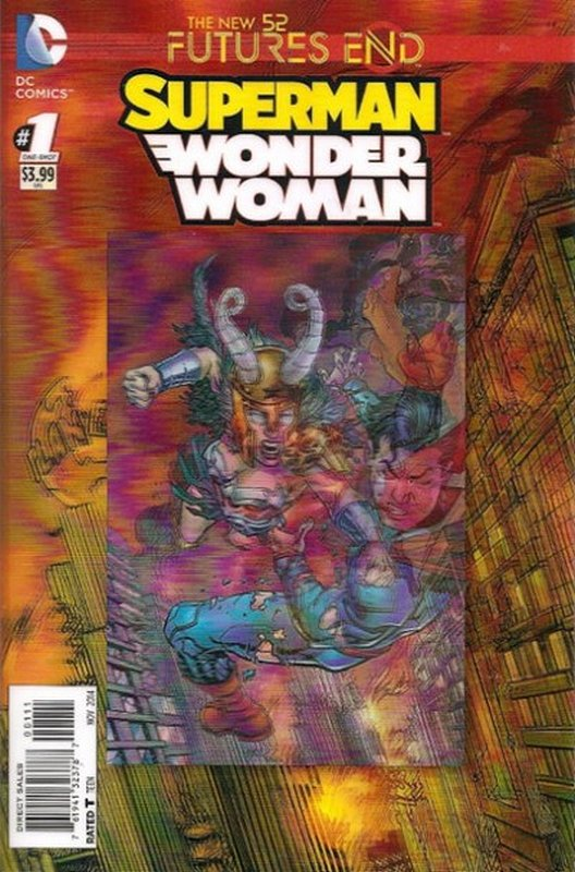 Cover of Superman/Wonder Woman: Futures End (2014 One Shot) #1. One of 250,000 Vintage American Comics on sale from Krypton!