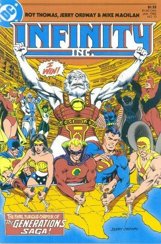 Cover of Infinity Inc (Vol 1) #10. One of 250,000 Vintage American Comics on sale from Krypton!