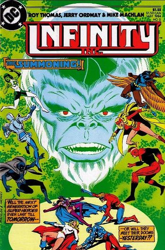 Cover of Infinity Inc (Vol 1) #2. One of 250,000 Vintage American Comics on sale from Krypton!