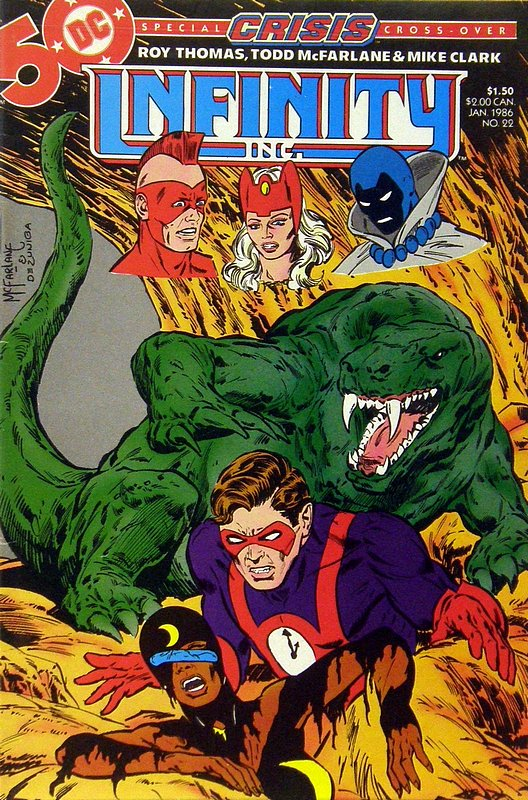 Cover of Infinity Inc (Vol 1) #22. One of 250,000 Vintage American Comics on sale from Krypton!