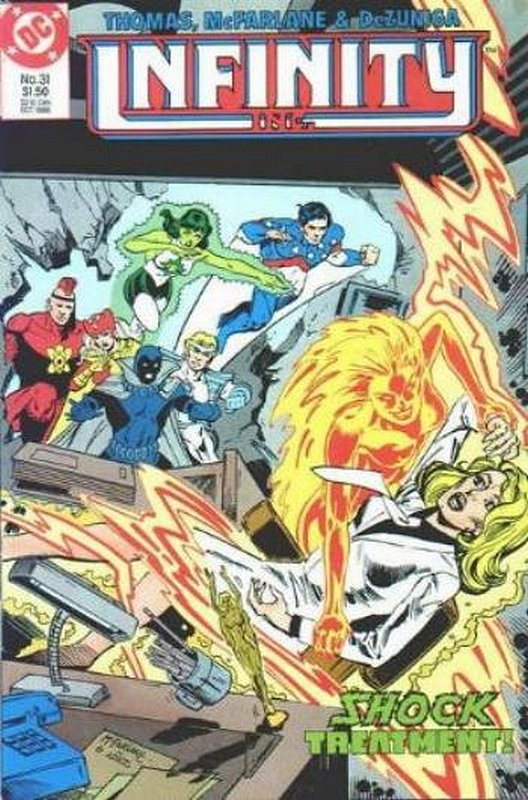 Cover of Infinity Inc (Vol 1) #31. One of 250,000 Vintage American Comics on sale from Krypton!