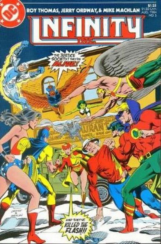 Cover of Infinity Inc (Vol 1) #5. One of 250,000 Vintage American Comics on sale from Krypton!