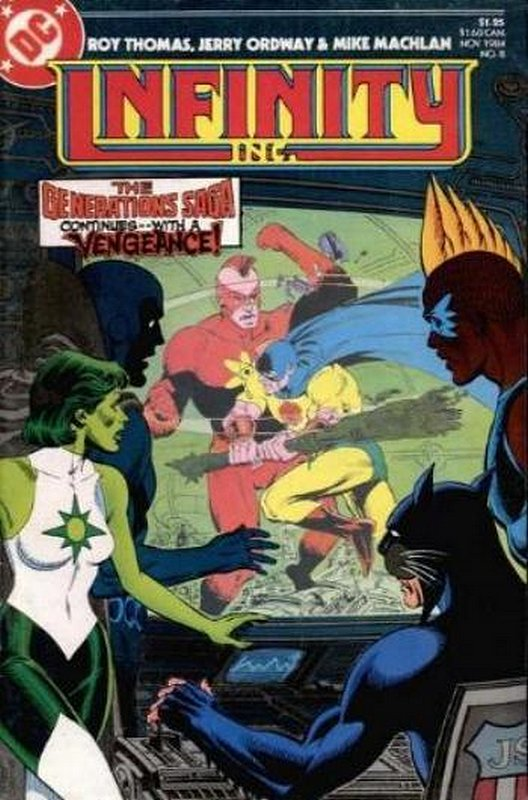 Cover of Infinity Inc (Vol 1) #8. One of 250,000 Vintage American Comics on sale from Krypton!