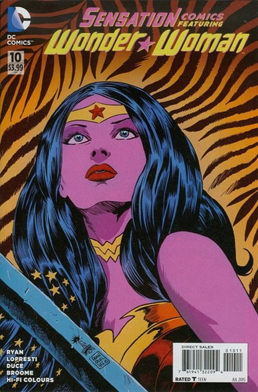 Cover of Sensation Comics Featuring Wonder Woman (Vol 1) #10. One of 250,000 Vintage American Comics on sale from Krypton!