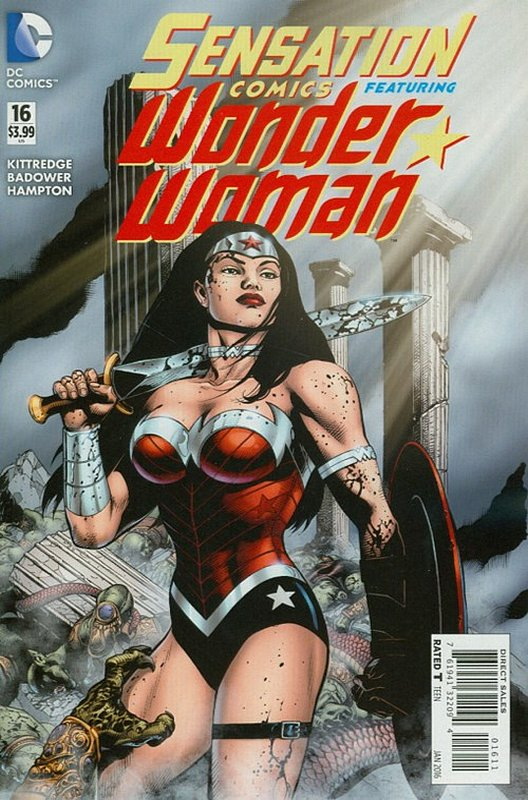 Cover of Sensation Comics Featuring Wonder Woman (Vol 1) #16. One of 250,000 Vintage American Comics on sale from Krypton!