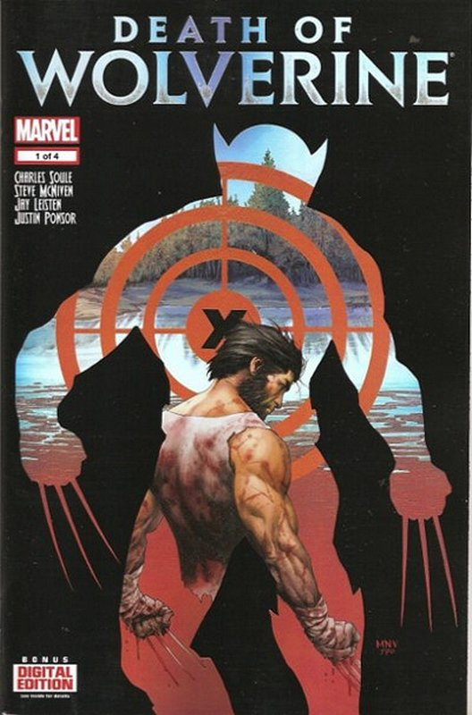 Cover of Death of Wolverine (2014 Ltd) #1. One of 250,000 Vintage American Comics on sale from Krypton!