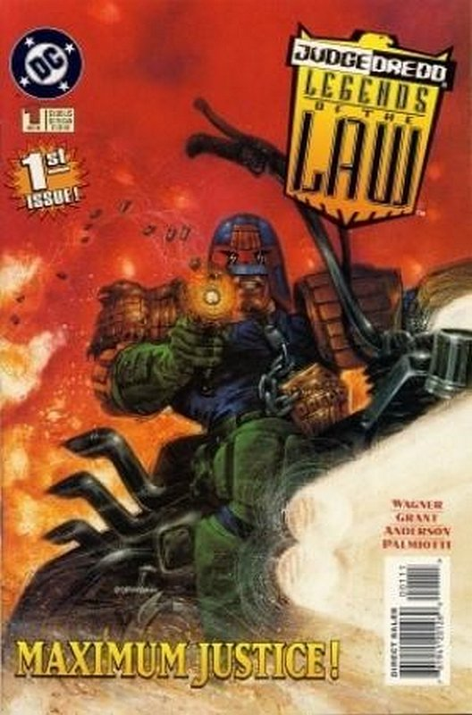 Cover of Judge Dredd: Legends of the Law (Vol 1) #1. One of 250,000 Vintage American Comics on sale from Krypton!