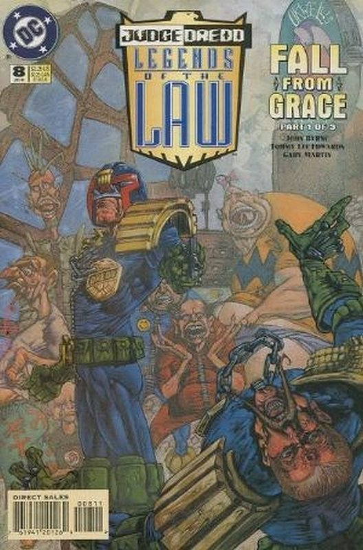 Cover of Judge Dredd: Legends of the Law (Vol 1) #8. One of 250,000 Vintage American Comics on sale from Krypton!