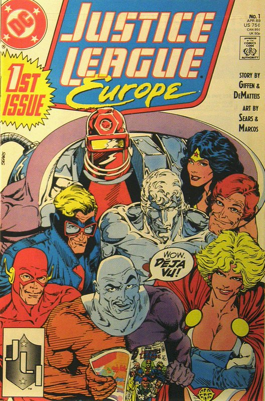 Cover of Justice League Europe #1. One of 250,000 Vintage American Comics on sale from Krypton!