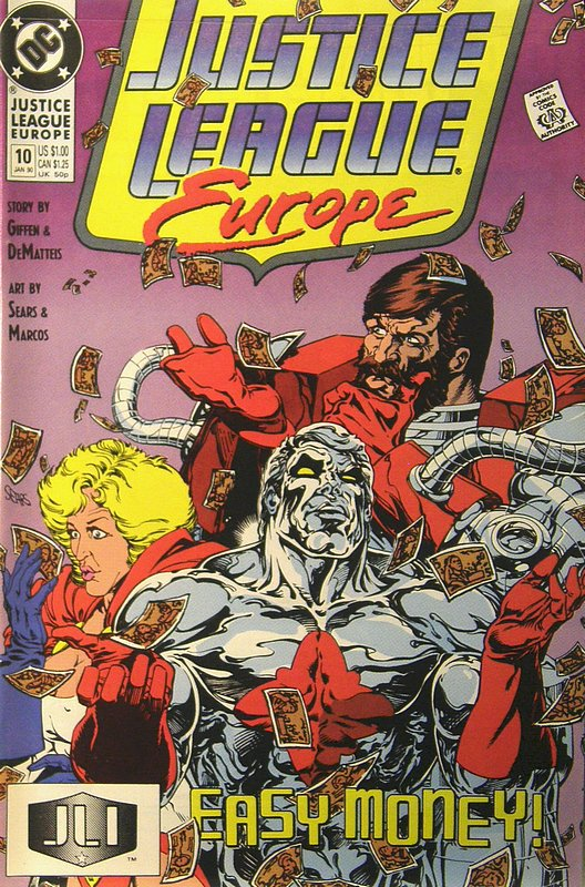 Cover of Justice League Europe #10. One of 250,000 Vintage American Comics on sale from Krypton!