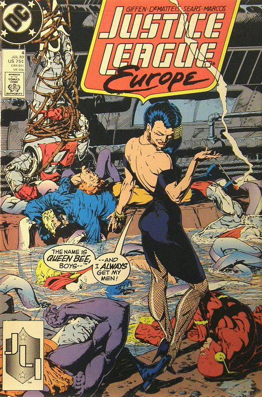 Cover of Justice League Europe #4. One of 250,000 Vintage American Comics on sale from Krypton!