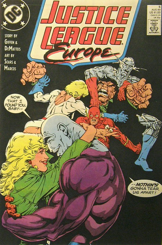 Cover of Justice League Europe #5. One of 250,000 Vintage American Comics on sale from Krypton!
