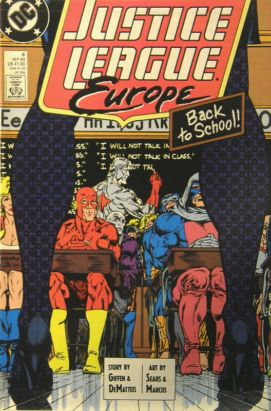 Cover of Justice League Europe #6. One of 250,000 Vintage American Comics on sale from Krypton!