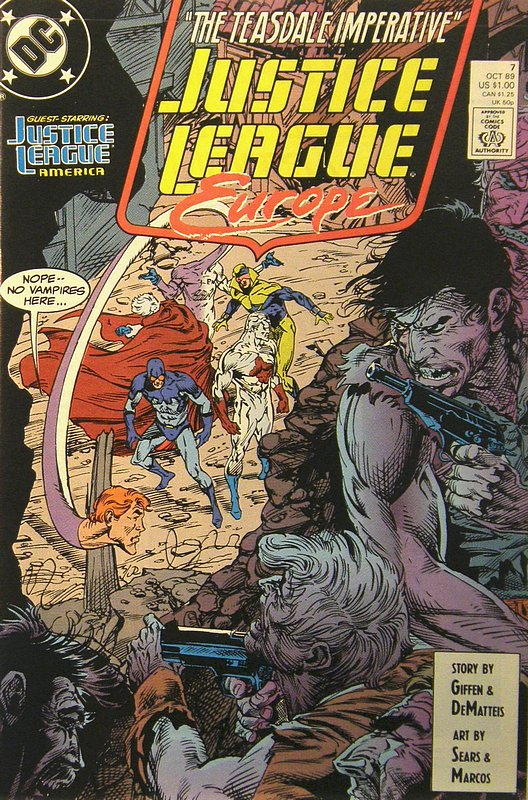 Cover of Justice League Europe #7. One of 250,000 Vintage American Comics on sale from Krypton!