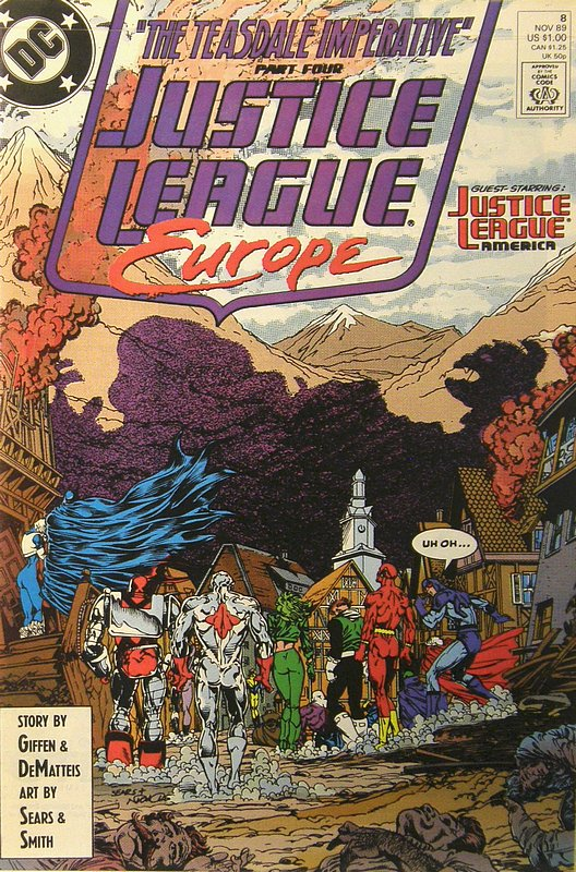 Cover of Justice League Europe #8. One of 250,000 Vintage American Comics on sale from Krypton!