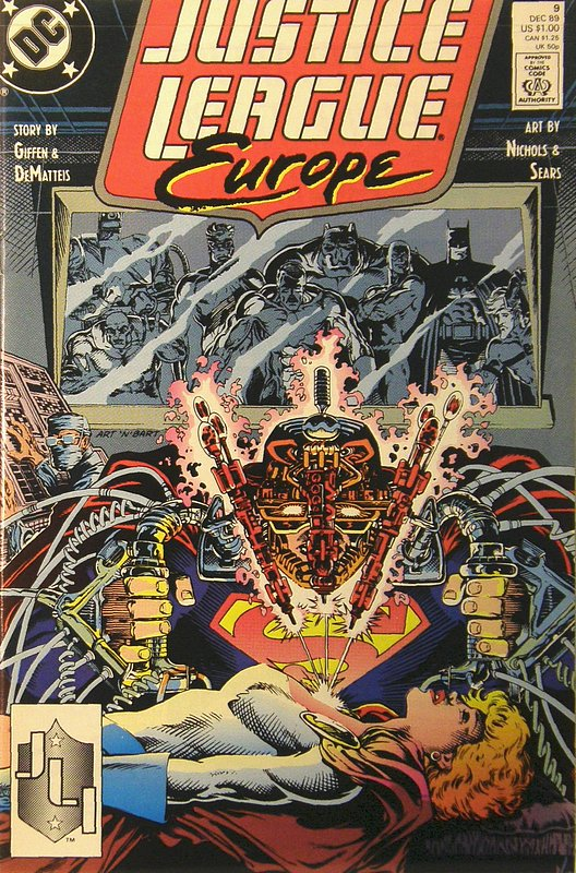 Cover of Justice League Europe #9. One of 250,000 Vintage American Comics on sale from Krypton!