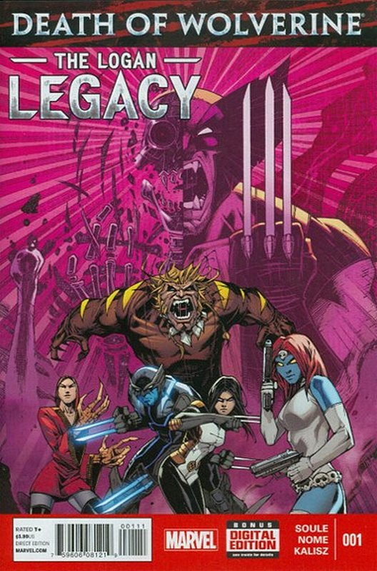 Cover of Death of Wolverine: Logan Legacy (2014 Ltd) #1. One of 250,000 Vintage American Comics on sale from Krypton!
