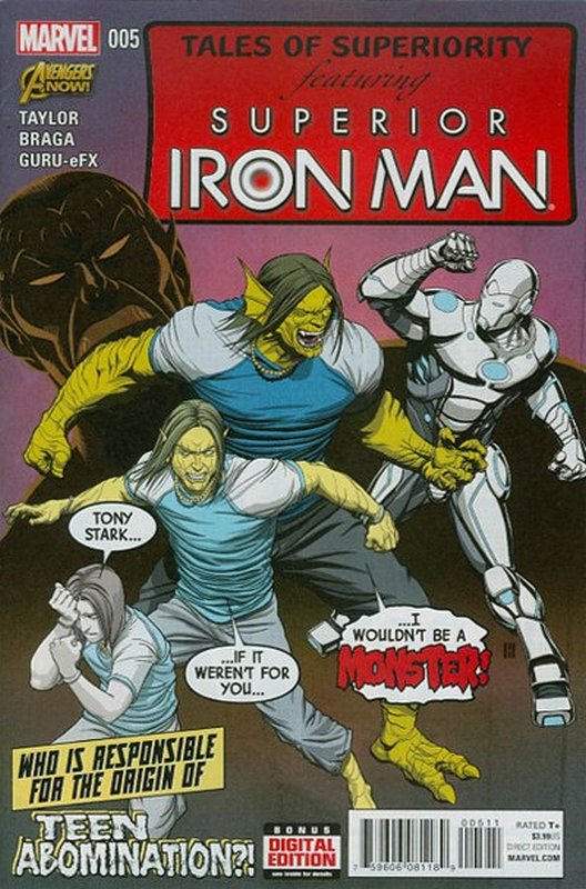 Cover of Superior Iron Man (Vol 1) #5. One of 250,000 Vintage American Comics on sale from Krypton!