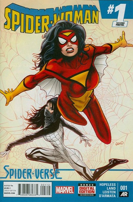 Cover of Spider-Woman (Vol 4) #1. One of 250,000 Vintage American Comics on sale from Krypton!
