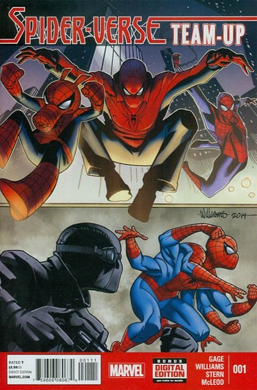 Cover of Spider-Verse Team-up (2014 Ltd) #1. One of 250,000 Vintage American Comics on sale from Krypton!