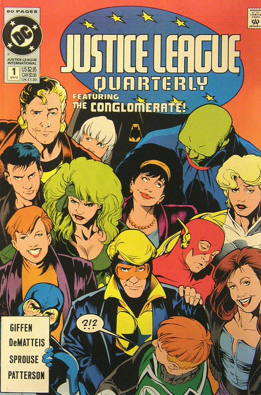 Cover of Justice League Quarterly (Vol 1) #1. One of 250,000 Vintage American Comics on sale from Krypton!