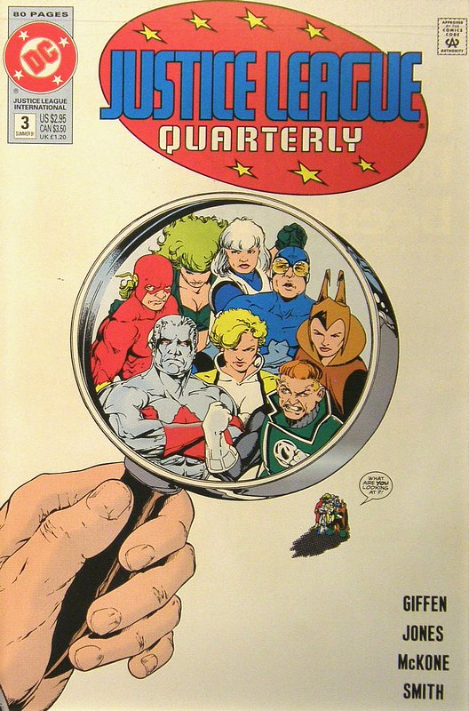 Cover of Justice League Quarterly (Vol 1) #3. One of 250,000 Vintage American Comics on sale from Krypton!