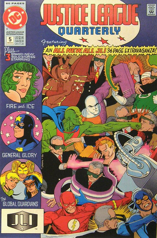 Cover of Justice League Quarterly (Vol 1) #5. One of 250,000 Vintage American Comics on sale from Krypton!
