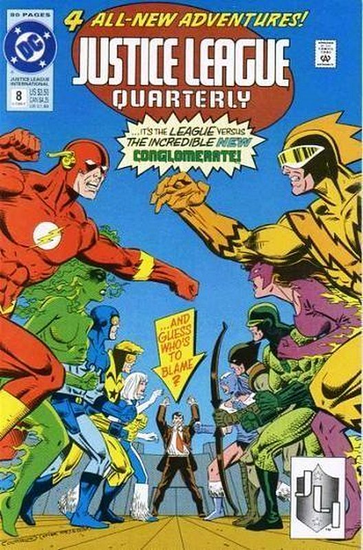 Cover of Justice League Quarterly (Vol 1) #8. One of 250,000 Vintage American Comics on sale from Krypton!