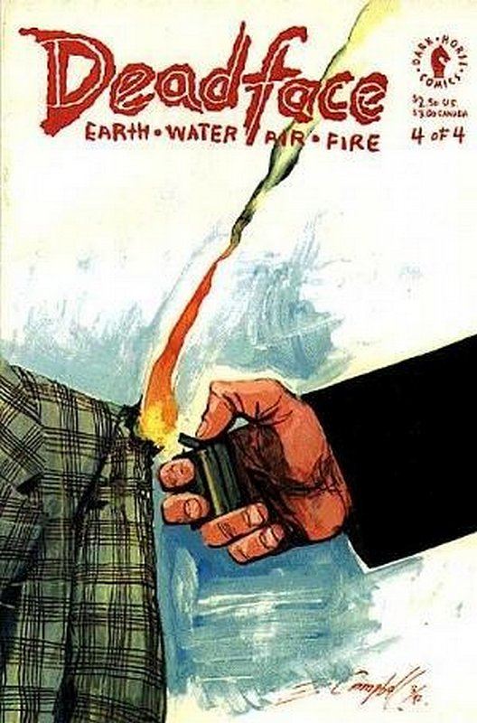 Cover of Deadface: Earth Water Air Fire (1992 Ltd) #4. One of 250,000 Vintage American Comics on sale from Krypton!