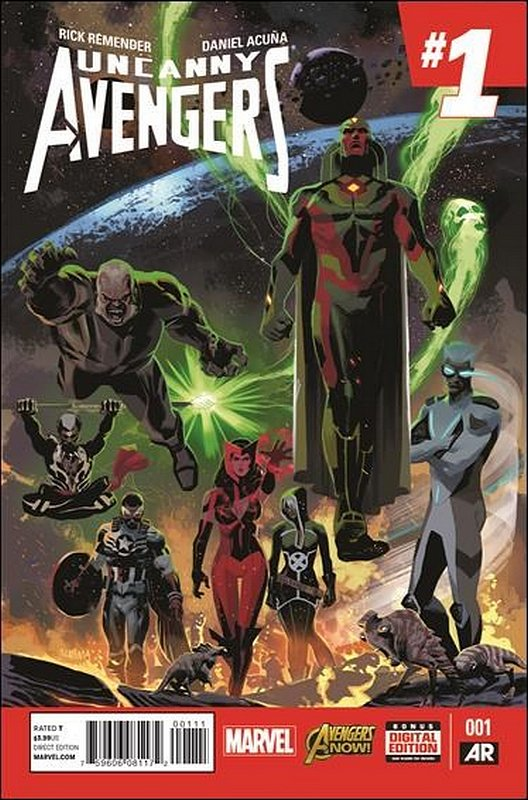 Cover of Uncanny Avengers (Vol 2) #1. One of 250,000 Vintage American Comics on sale from Krypton!