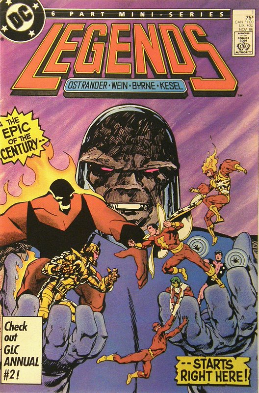 Cover of Legends (1986 Ltd) #1. One of 250,000 Vintage American Comics on sale from Krypton!