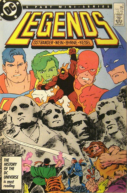 Cover of Legends (1986 Ltd) #3. One of 250,000 Vintage American Comics on sale from Krypton!