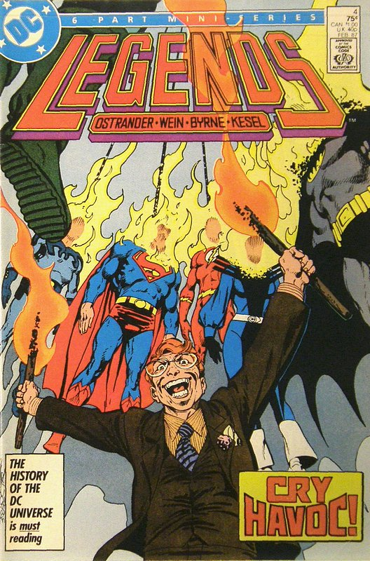 Cover of Legends (1986 Ltd) #4. One of 250,000 Vintage American Comics on sale from Krypton!