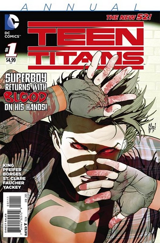 Cover of Teen Titans Annual (2015) #1. One of 250,000 Vintage American Comics on sale from Krypton!