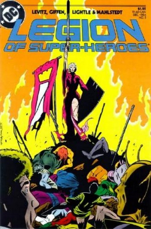Cover of Legion of Super-Heroes (Vol 2) #5. One of 250,000 Vintage American Comics on sale from Krypton!