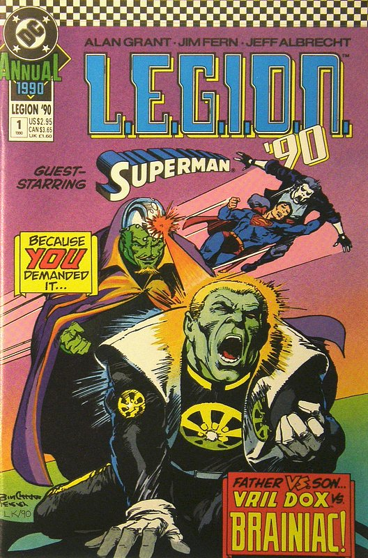 Cover of LEGION 89 (-94) Annual #1. One of 250,000 Vintage American Comics on sale from Krypton!