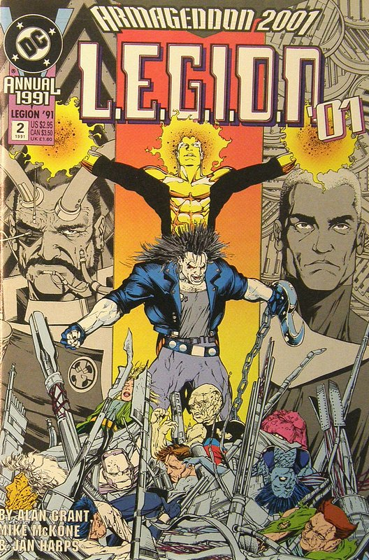 Cover of LEGION 89 (-94) Annual #2. One of 250,000 Vintage American Comics on sale from Krypton!