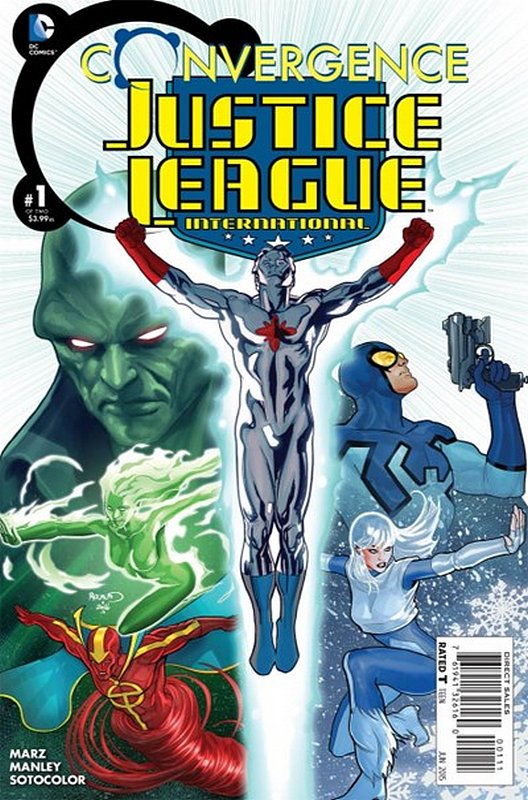 Cover of Convergence: Justice League International #1. One of 250,000 Vintage American Comics on sale from Krypton!