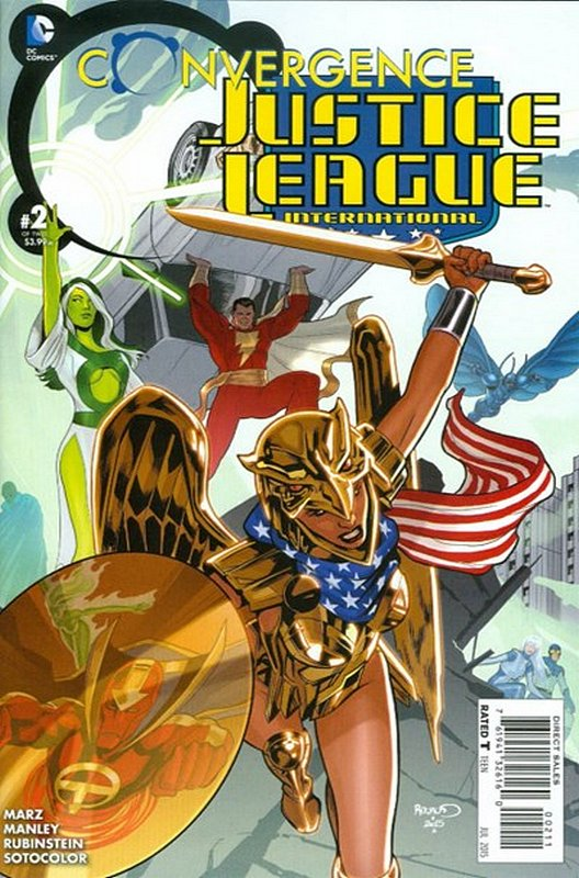 Cover of Convergence: Justice League International #2. One of 250,000 Vintage American Comics on sale from Krypton!