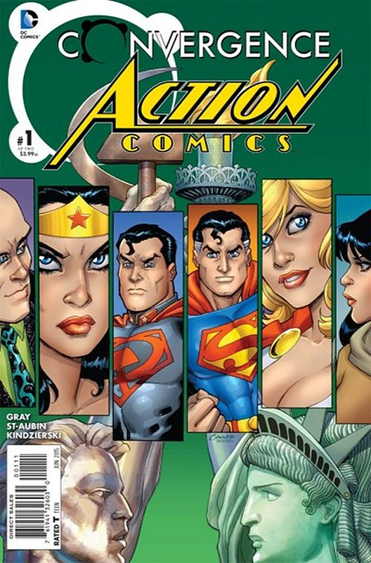Cover of Convergence: Action Comics (2015 Ltd) #1. One of 250,000 Vintage American Comics on sale from Krypton!