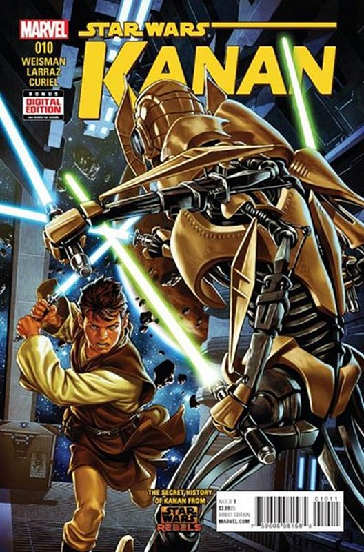 Cover of Kanan:The Last Padawan (Vol 1) #10. One of 250,000 Vintage American Comics on sale from Krypton!