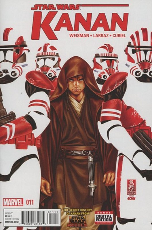 Cover of Kanan:The Last Padawan (Vol 1) #11. One of 250,000 Vintage American Comics on sale from Krypton!