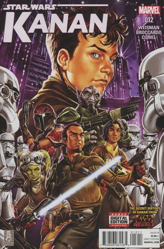 Cover of Kanan:The Last Padawan (Vol 1) #12. One of 250,000 Vintage American Comics on sale from Krypton!