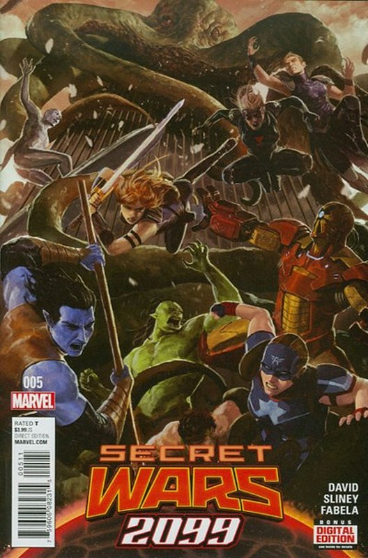 Cover of Secret Wars 2099 (Vol 1) #5. One of 250,000 Vintage American Comics on sale from Krypton!