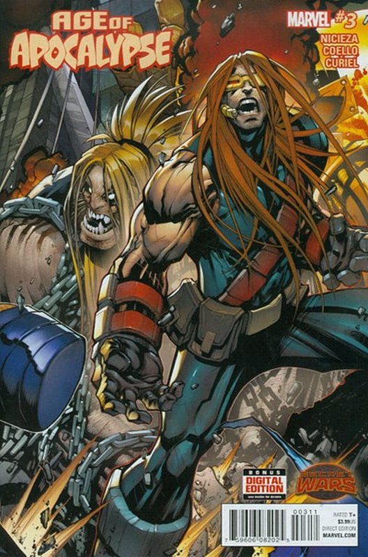 Cover of Age of Apocalypse (2015 Ltd) #3. One of 250,000 Vintage American Comics on sale from Krypton!