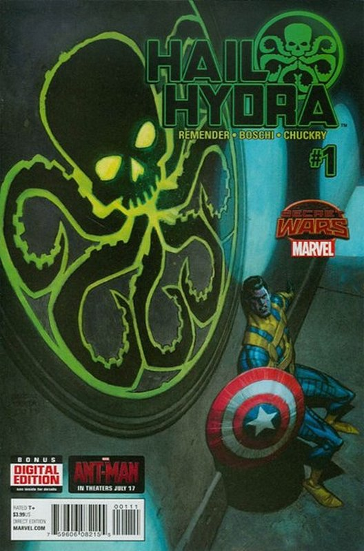 Cover of Hail Hydra (2015 Ltd) #1. One of 250,000 Vintage American Comics on sale from Krypton!