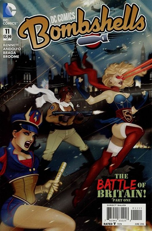 Cover of DC Comics: Bombshells (Vol 1) #11. One of 250,000 Vintage American Comics on sale from Krypton!